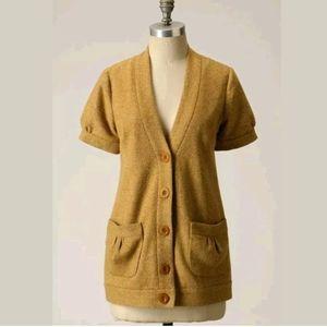 Tabitha Grandpa Cardigan Tweed Blazer Jacket Wool